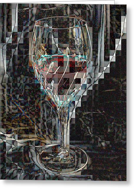 Fractured Surprise Greeting Card by Marie Neder