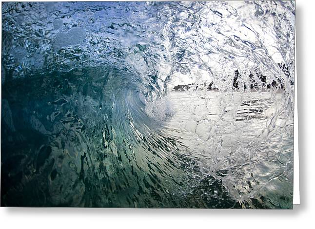 Recently Sold -  - Ocean Art Photography Greeting Cards - Fractured tube. Greeting Card by Sean Davey