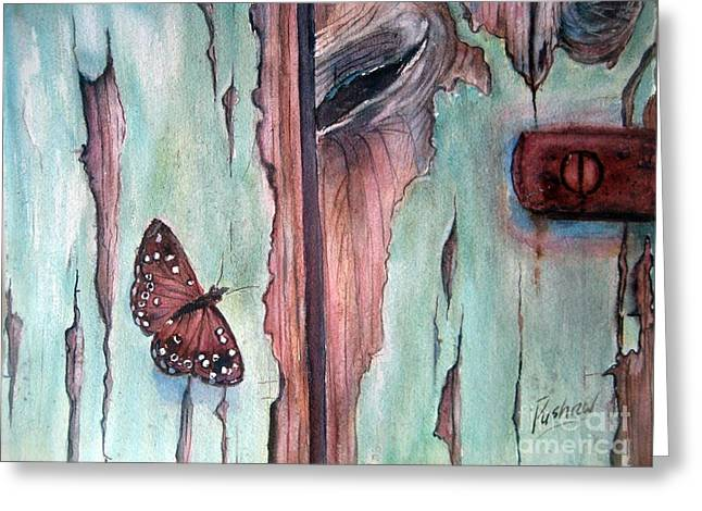 Old Door Greeting Cards - Fragile beauty Greeting Card by Patricia Pushaw