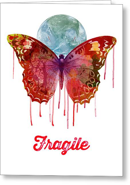 Illustration Greeting Cards - Fragile Greeting Card by Gary Grayson