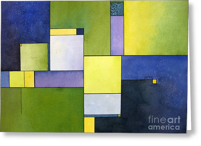 Abstract Geometric Greeting Cards - Fragment no 1  Greeting Card by Cherilynn Wood