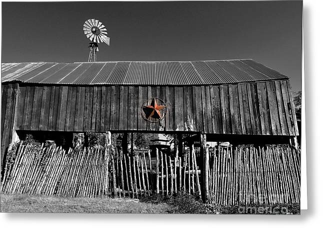 Fragments Of Wood Greeting Cards - Fragments of Color Barn Greeting Card by Julian  Walters