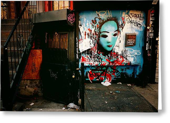 Fragments - Street Art - New York City Greeting Card by Vivienne Gucwa