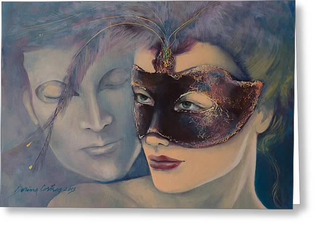 Carnivale Greeting Cards - Fragrance Greeting Card by Dorina  Costras