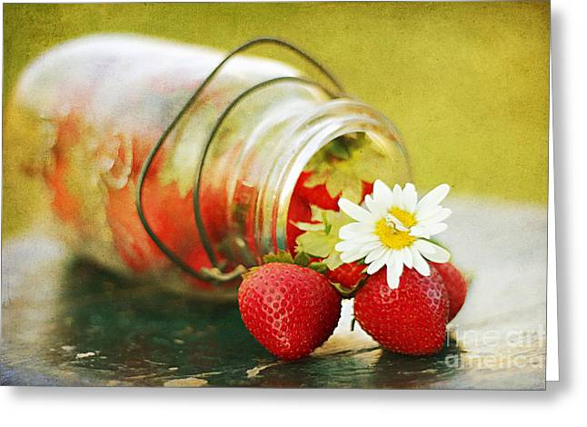 Mason Jars Greeting Cards - Fraises Greeting Card by Darren Fisher