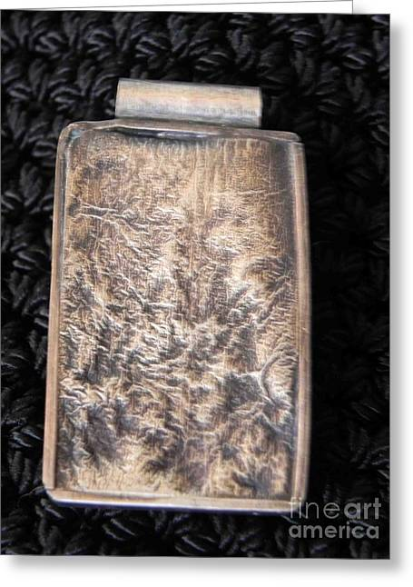 Textured Jewelry Greeting Cards - Framed abstract pendant Greeting Card by Patricia  Tierney