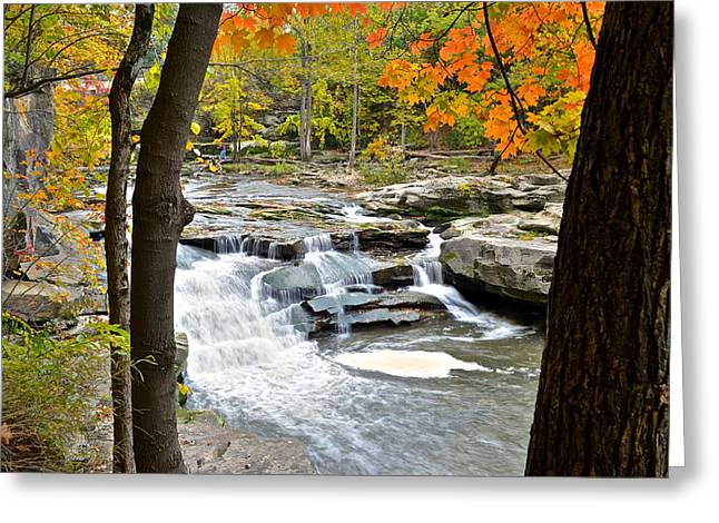 Framed Falls Greeting Card by Frozen in Time Fine Art Photography