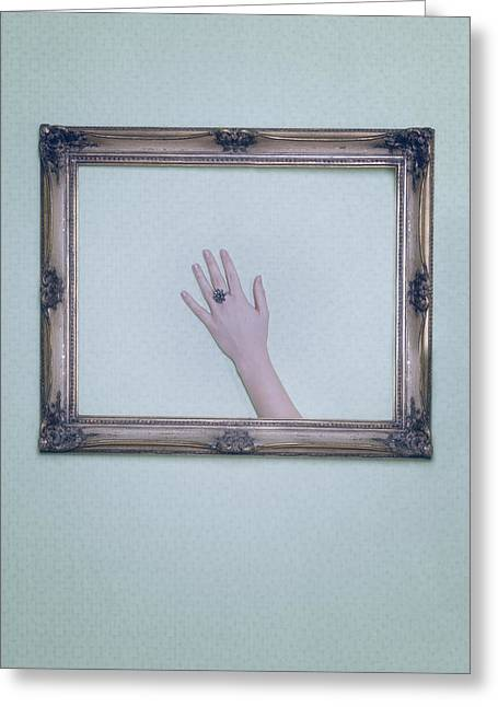 Jewellery Greeting Cards - Framed Hand Greeting Card by Joana Kruse
