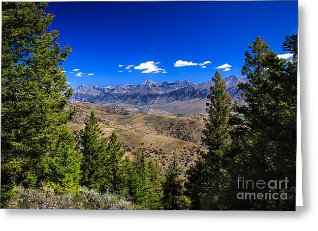 Framed Lost River Range Greeting Card by Robert Bales