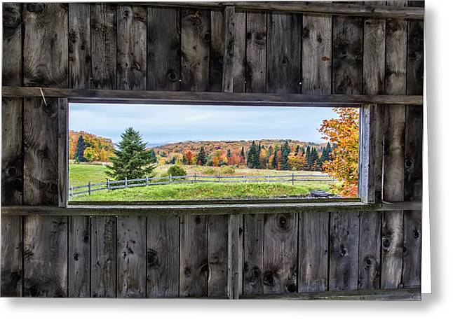 New England Village Greeting Cards - Framed-Autumn in Vermont Greeting Card by John Vose