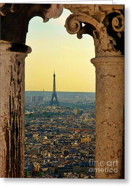 Famous Photographer Greeting Cards - Framing the Eiffel Tower Greeting Card by John Malone