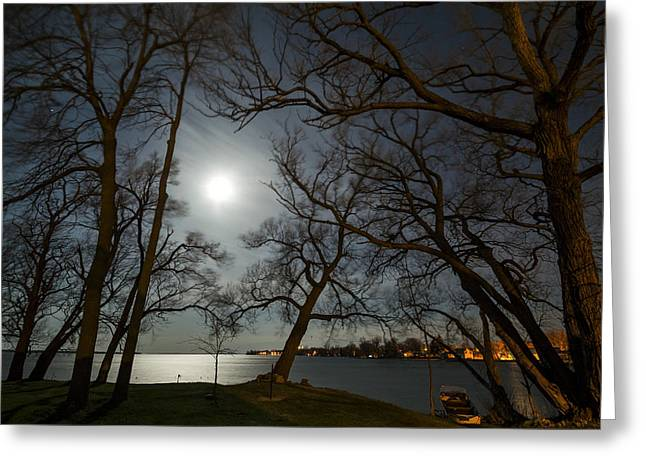 Framing The Moon Greeting Card by Matt Molloy