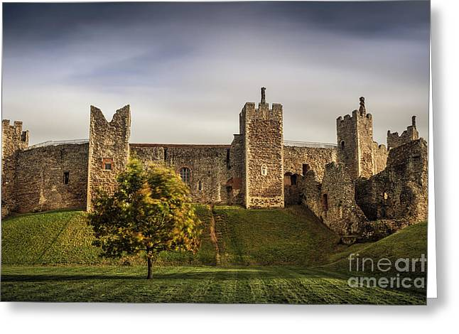 Christian Mythology Greeting Cards - Framlingham Castle Greeting Card by Svetlana Sewell