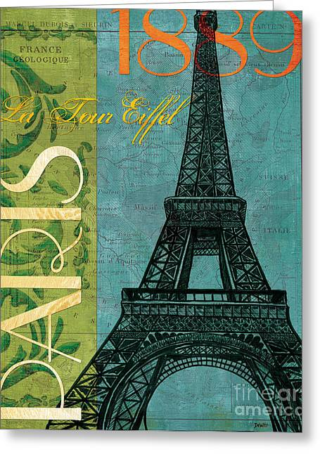 France Map Greeting Cards - Francaise 1 Greeting Card by Debbie DeWitt