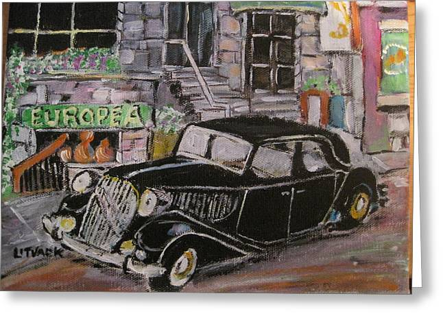 Michael Litvack Greeting Cards - France comes to Mountain Street Greeting Card by Michael Litvack
