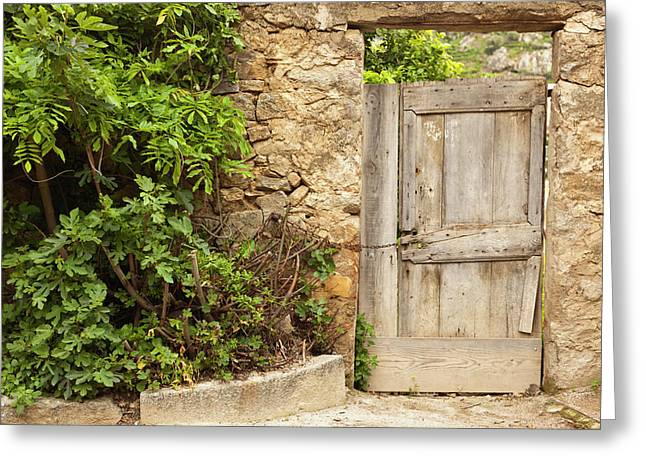 France, Corsica, La Balagne, Pigna Greeting Card by Walter Bibikow