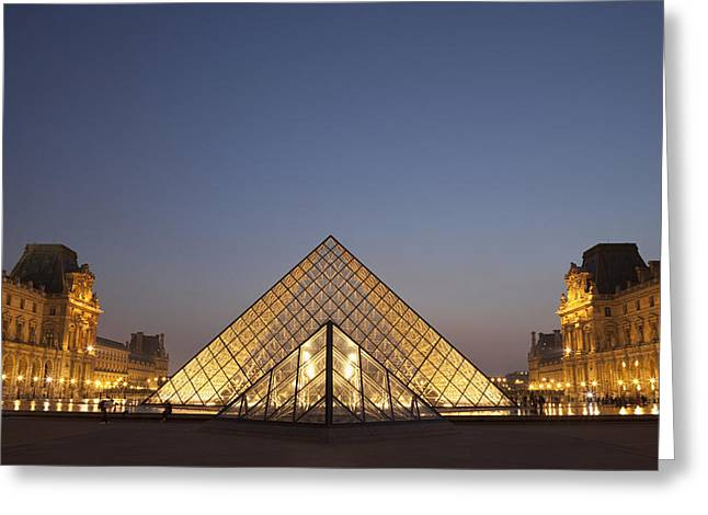 French Open Greeting Cards - France, Glass Pyramid Of Louvre Museum Greeting Card by Mark Thomas