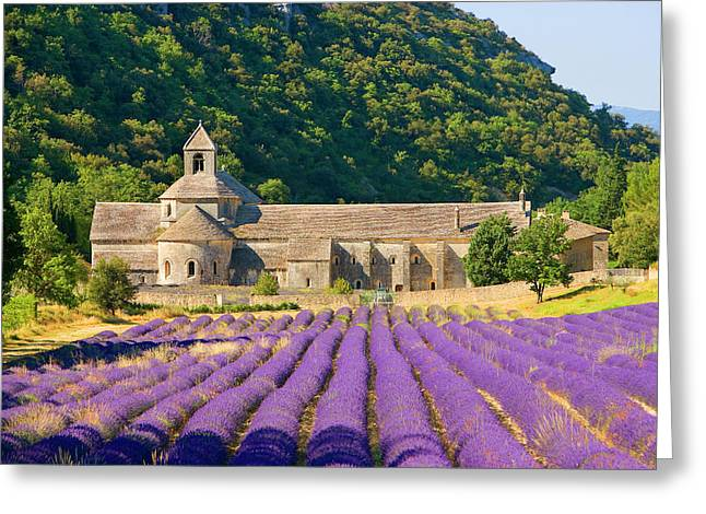 France, Gordes Cistercian Monastery Greeting Card by Jaynes Gallery