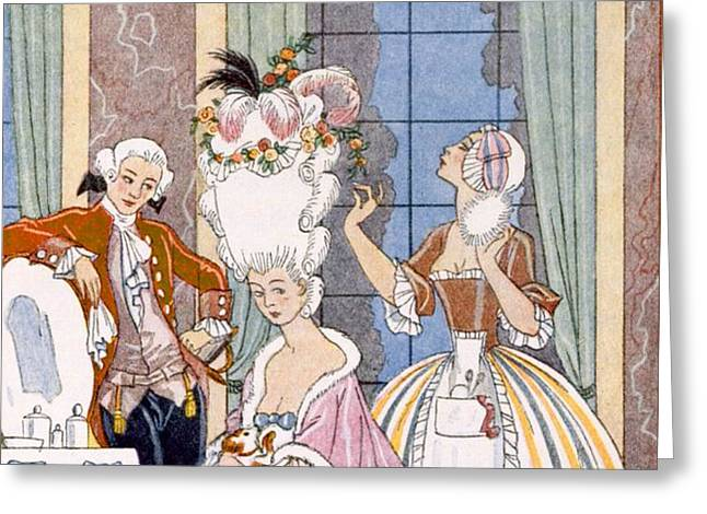 France in the 18th Century Greeting Card by Georges Barbier