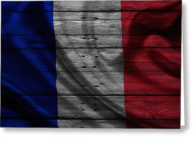 Flag Pole Greeting Cards - France Greeting Card by Joe Hamilton