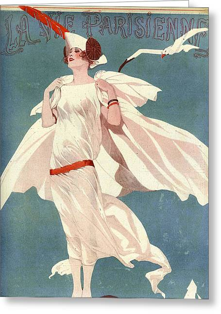 Parisienne Greeting Cards - France La Vie Parisienne Magazine Cover Greeting Card by The Advertising Archives