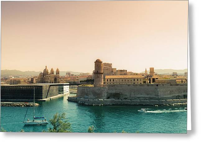 South Of France Photographs Greeting Cards - France - Marseille - Port of Beauty Greeting Card by Vivienne Gucwa