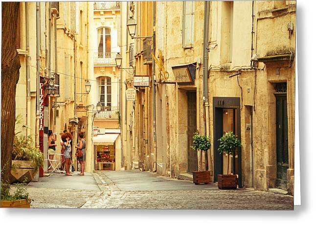 European Cities Greeting Cards - France - Montpellier - Europe Greeting Card by Vivienne Gucwa
