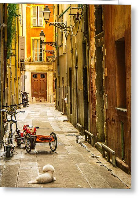 South Of France Photographs Greeting Cards - France - Nice - The Little Things Greeting Card by Vivienne Gucwa