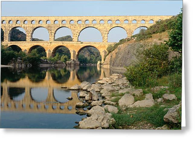 Languedoc Greeting Cards - France, Nimes, Pont Du Gard Greeting Card by Panoramic Images