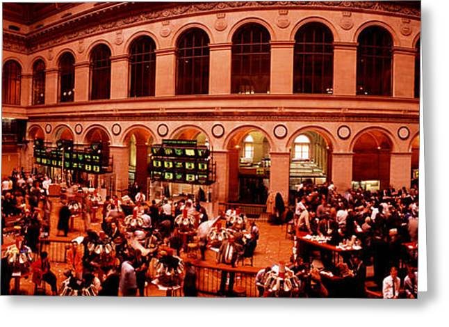 Broker Greeting Cards - France, Paris, Bourse Stock Exchange Greeting Card by Panoramic Images