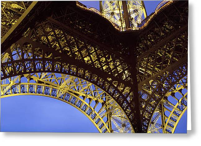 Ironwork Greeting Cards - France, Paris, Eiffel Tower Greeting Card by Panoramic Images