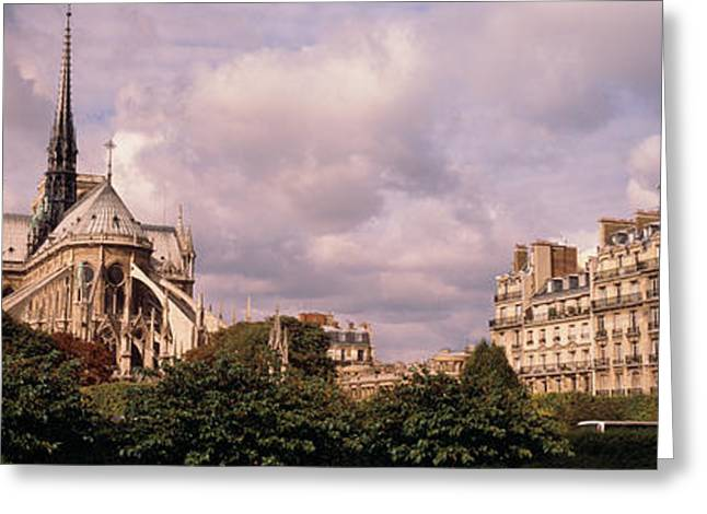 Famous Buildings Greeting Cards - France, Paris, Notre Dame Greeting Card by Panoramic Images