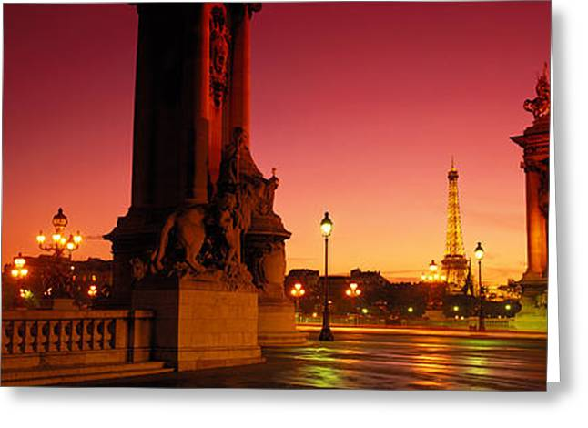 Alexandre Greeting Cards - France, Paris, Pont Alexandre Iii Greeting Card by Panoramic Images