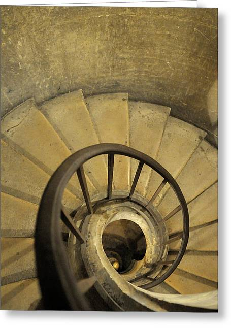 France, Paris Stairs And Handrail Greeting Card by Kevin Oke
