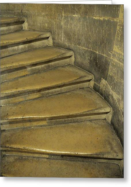 France, Paris Stairs Leading Greeting Card by Kevin Oke