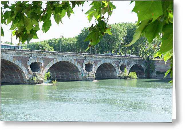 France, Toulouse, Pont Neuf Bridge Greeting Card by Emily Wilson