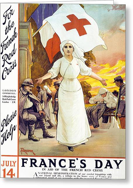 Red Cross Greeting Cards - Frances Day Greeting Card by Anonymous