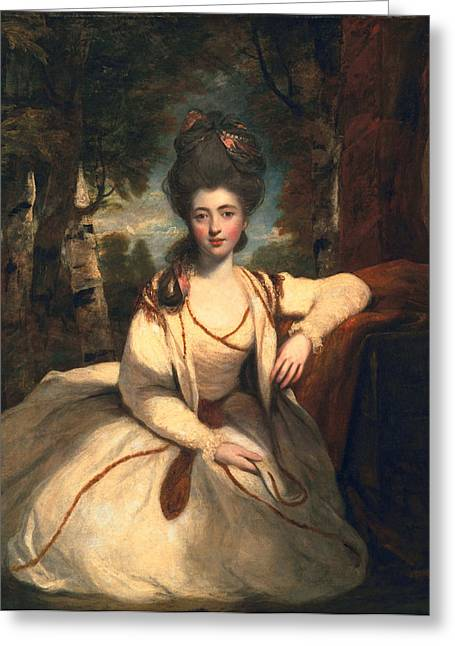 Full-length Portrait Greeting Cards - Frances Molesworth, Later Marchioness Greeting Card by Sir Joshua Reynolds