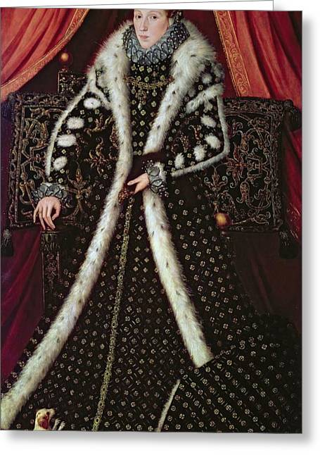 Toy Dog Greeting Cards - Frances Sidney, Countess Of Sussex, C.1565 Panel Greeting Card by or Muelen, Steven van der Meulen