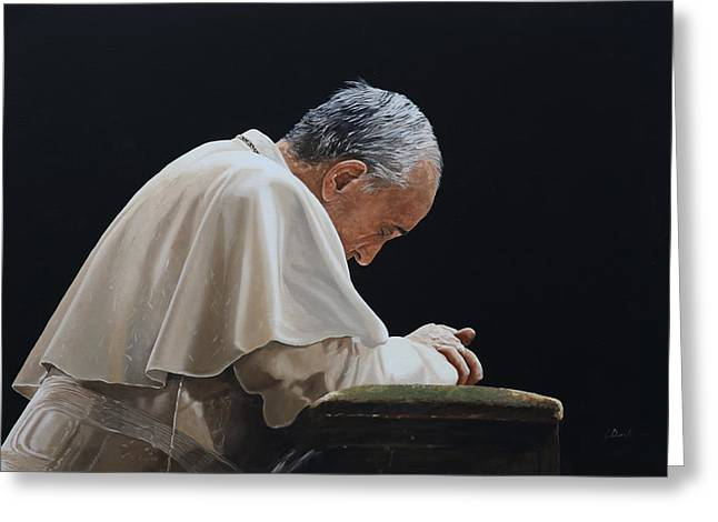 Popes Greeting Cards - Francesco Greeting Card by Guido Borelli