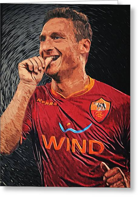 Francesco Totti Greeting Card by Taylan Apukovska
