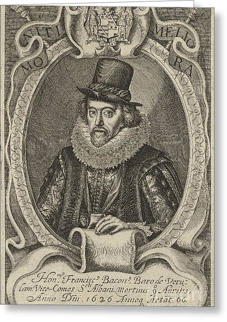Francis Greeting Cards - Francis Bacon, English Polymath Greeting Card by Folger Shakespeare Library