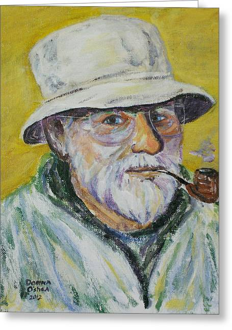 Van Gogh Style Paintings Greeting Cards - Francis Greeting Card by Donna Oshea