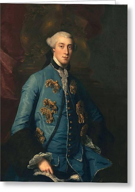 Powder Greeting Cards - Francis Hastings, Earl Of Huntington Greeting Card by Sir Joshua Reynolds