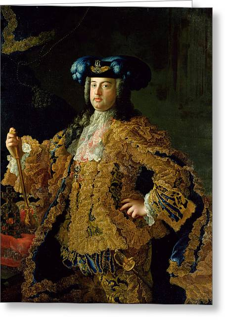 Lace Collar Greeting Cards - Francis I 1708-65 Holy Roman Emperor And Husband Of Empress Maria Theresa Of Austria 1717-80 Greeting Card by Martin II Mytens or Meytens