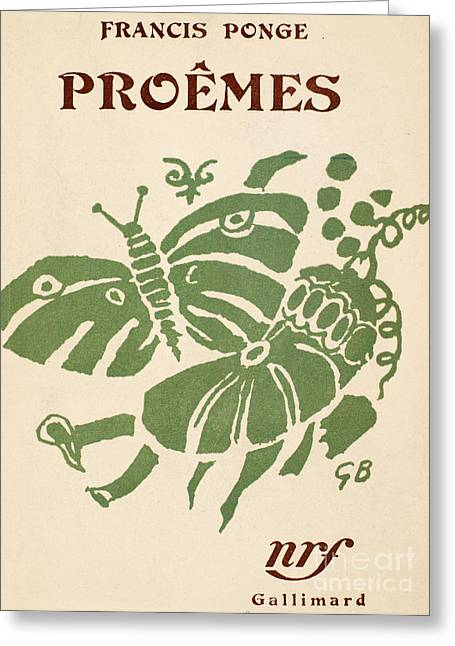 Francis Ponge: Proemes Greeting Card by Granger