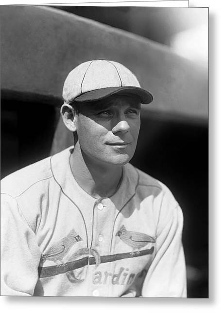 National League Baseball Photographs Greeting Cards - Francis R. Ray Blades Greeting Card by Retro Images Archive