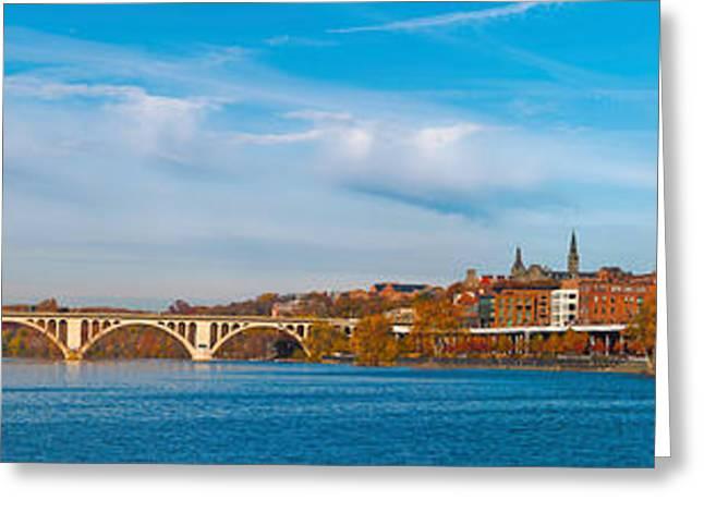 Francis Greeting Cards - Francis Scott Key Bridge Greeting Card by Panoramic Images
