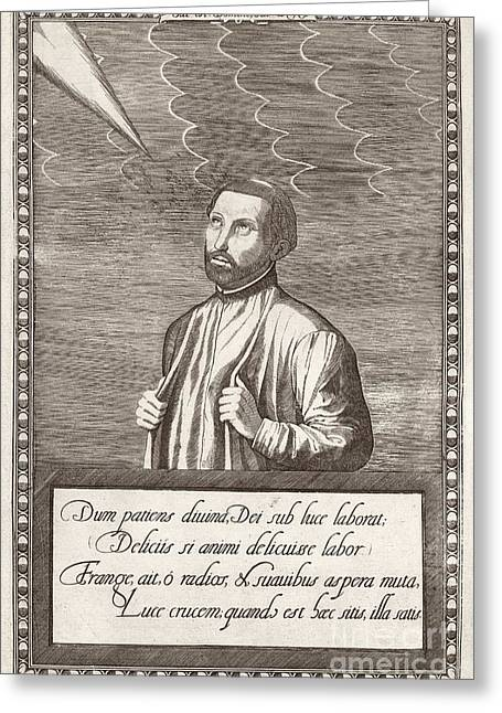 Co-founder Greeting Cards - Francis Xavier, Spanish Missionary Greeting Card by Middle Temple Library