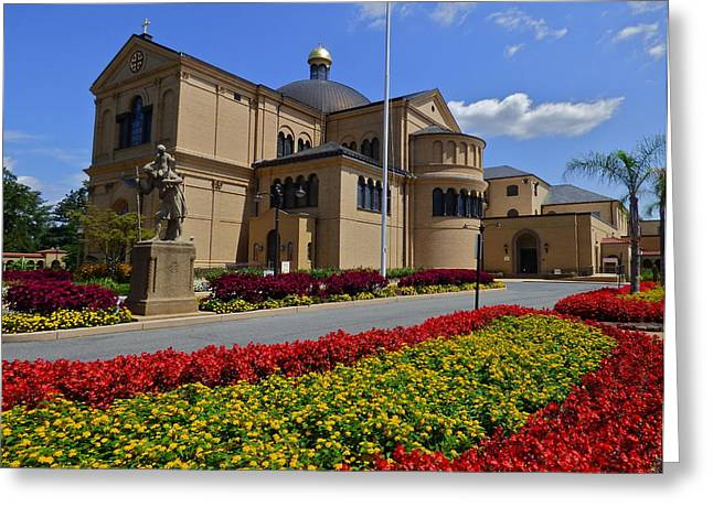 Franciscan Monastery In Washington Dc Greeting Card by Jean Doepkens Wright